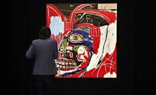 La présentation de « In this Case » de Jean-Michel Basquiat  à la presse le 3 mai 2021 à New York.