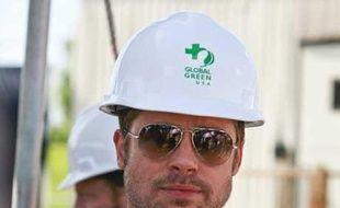 Brad Pitt a présenté mardi un prototype d'une maison écolo à la Nouvelle Orléans
