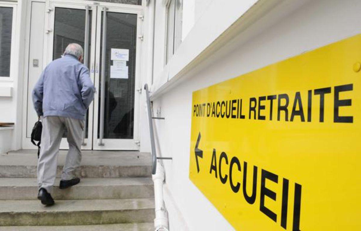 Une caisse d'assurance vieillesse à Paris. – DURAND FLORENCE/SIPA
