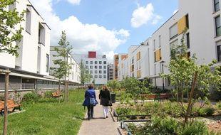 Illustration de constructions récentes à Rennes, ici dans le quartier Jacques-Cartier.