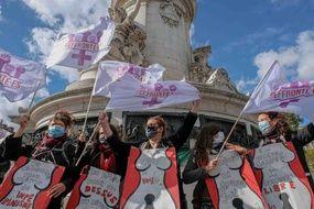 Manifestation à Paris pour le droit à l'avortement le 26 septembre 2020.