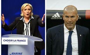 Marine Le Pen répond à Zinedine Zidane après son appel contre le FN le 28 avril 2017.