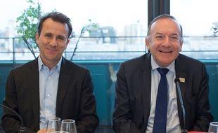 Thibault Lanxade et Pierre Gattaz du MEDEF
