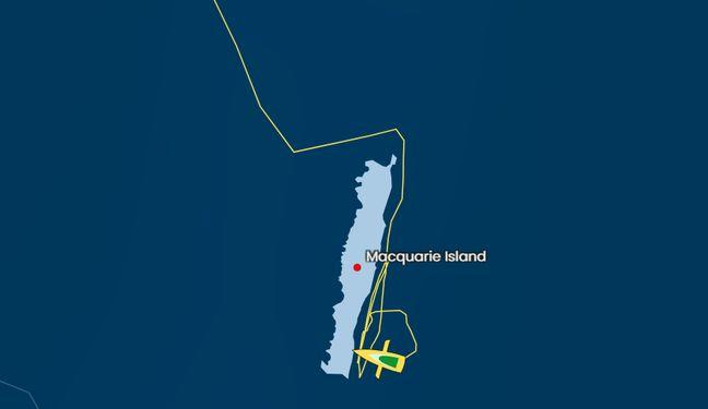 Louis Burton est resté près de deux jours le long des côtes de l'île Macquarie, d'où la trajectoire un peu surprenante