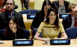Amal Clooney a plaidé  contre l'EI à l'ONU