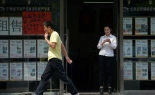 Une agence immobilière à Pékin, le 30 mai 2014