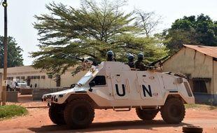 Des Casques bleus à Bangui le 2 janvier 2016.