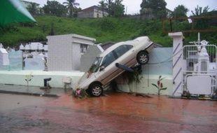 Les inondations à la Martinique ont fait de nombreux dégâts, le 05 mai 2009.