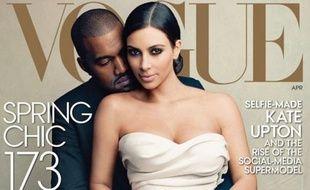 Kim Kardashian et Kanye West en une du numéro d'avril de Vogue