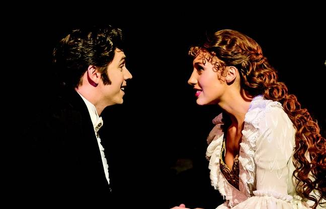 Raoul et Christine dans Le Fantôme de l'Opéra