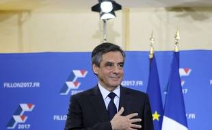 François Fillon, gagnant de la primaire à droite le 27 novembre 2016 à Paris.