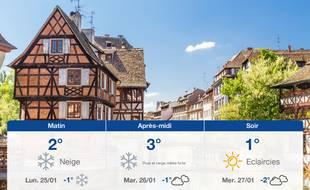 Météo Strasbourg: Prévisions du dimanche 24 janvier 2021