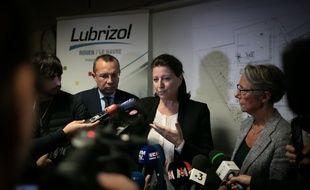 Agnès Buzyn, ministre de la Santé, et Elisabeth Borne, ministre de la Transition écologique et solidaire, étaient à Rouen, vendredi soir.