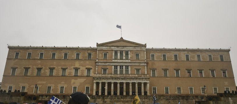 Devant le Parlement d'Athènes, Grèce.