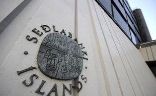 Le logo de la Banque centrale d'Islande