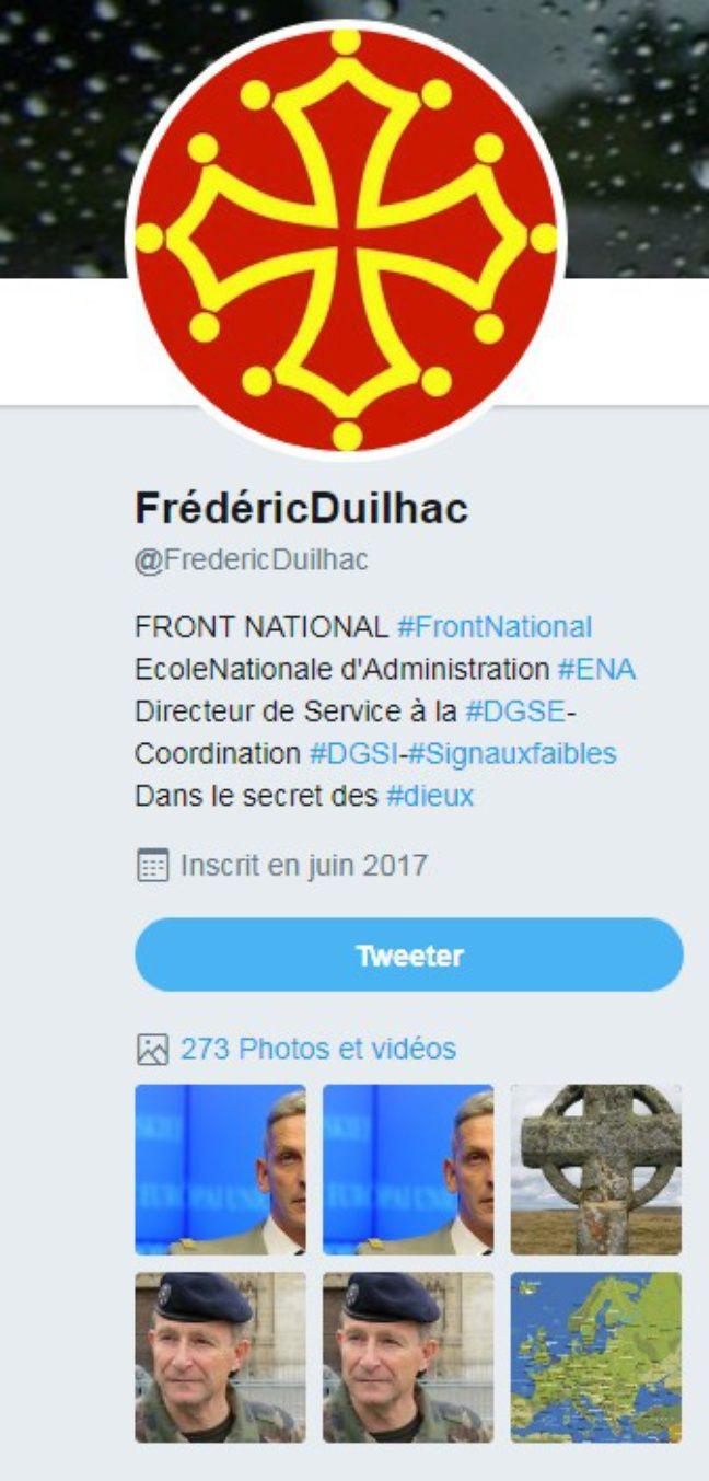 Capture d'écran de la mini-bio du compte @FredericDuilhac.