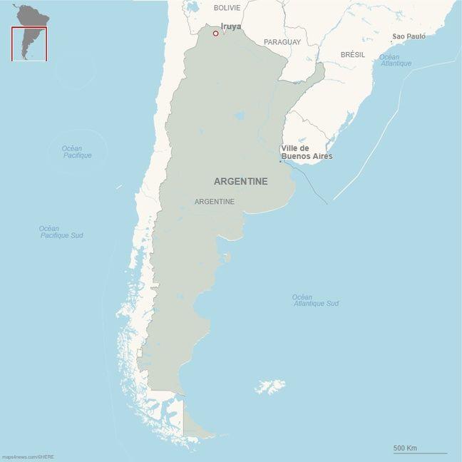 La dernière fois que Mathieu est entré en contact avec ses proche, il se dirigeait vers Iruya et la frontière bolivienne.