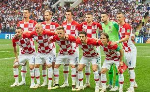 L'équipe de Croatie, juste avant la finale contre la France.