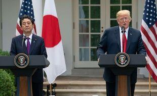 Donald Trump et le Premier ministre japonais Shinzo Abe, le 7 juin 2018 à la Maison Blanche.