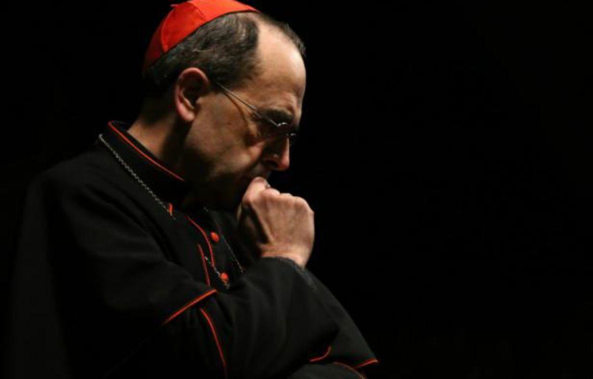 L'archevêque de Lyon Philippe Barbari, lors d'une prière à l'église Saint-Joseph, à Erbil en Irak, le 6 décembre 2014 – Safin Hamed AFP