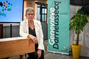La tête de liste MoDem-LREM en Nouvelle-Aquitaine, Geneviève Darrieussecq.