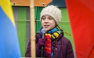Greta Thunberg, lors d'une manifestation à Bruxelles, le 6 mars 2020.