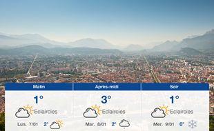 Météo Grenoble: Prévisions du dimanche 6 janvier 2019