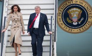 Donald Trump est arrivé mardi 10 JUILLET 2018 à Bruxelles pour le sommet de l'Otan.