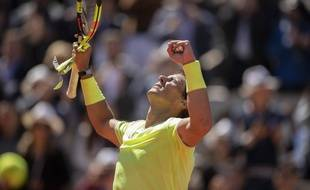 Rafael Nadal, vainqueur de Roger Federer en demi-finale de Roland-Garros, le 7 juin 2019.