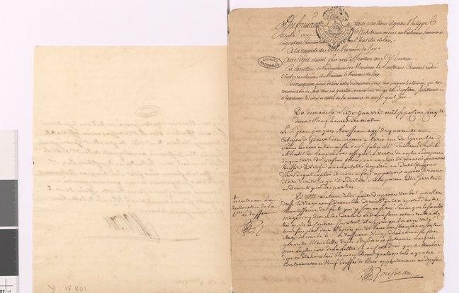 Déposition de Jean-Jacques Rousseau suite au vol de ses chemises, 16 janvier 1752