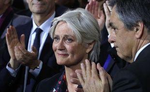 Penelope Fillon, lors d'un meeting de campagne de son mari, le 29 janvier 2017, à Paris.