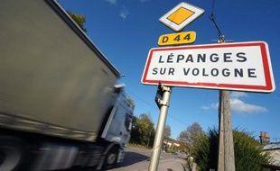 L'entrée du village de Lepanges-sur-Vologne où le corps du jeune Grégory Villemin avait été retrouvé en 1984