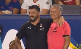 Gattuso et Mourinho en mode bonne ambiance