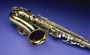 Un saxophone. Illustration.