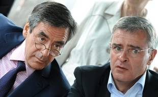 François Fillon et Marc Joulaud à La Suze-sur-Sarthe, le 4 juin 2012.