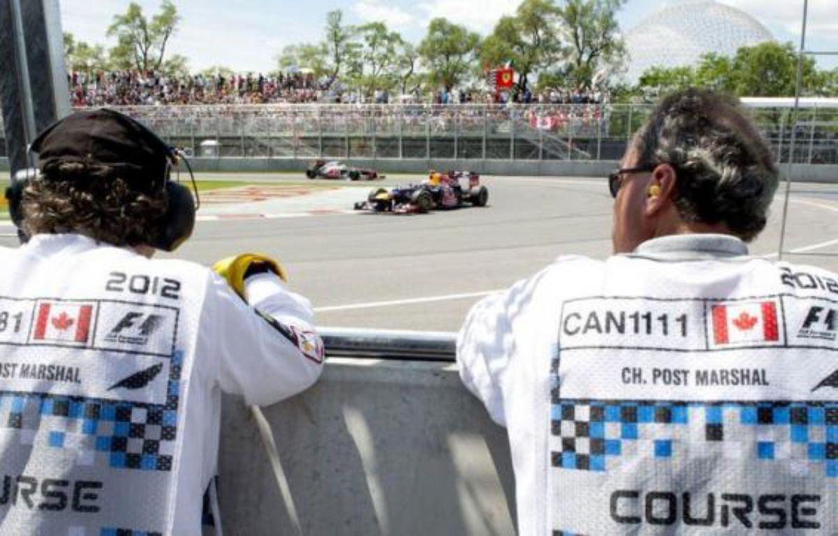 Sebastian Vettel (Red Bull) et Lewis Hamilton (McLaren) en première ligne, Fernando Alonso (Ferrari) juste derrière, le Grand Prix du Canada, dimanche sur le circuit Gilles-Villeneuve de Montréal, s'annonce comme un combat au sommet entre trois champions du monde de Formule 1. – Don Emmert afp.com