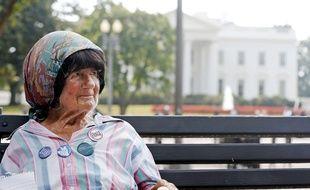 Concepcion Picciotto, alias Conchita, a réalisé un sit-in de plus de trois décennies devant la résidence du président des Etats-Unis