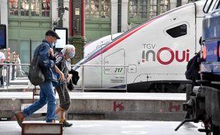 Un train en gare de Lyon à Paris, le 17 juillet 2020.