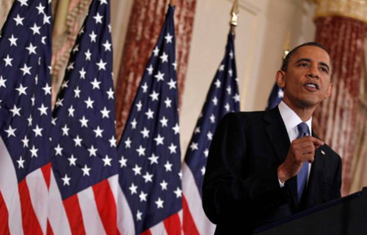 Barack Obama, le 19 mai, lors d'un discours au département d'Etat. – J.YOUNG/REUTERS
