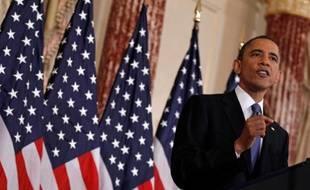 Barack Obama, le 19 mai, lors d'un discours au département d'Etat.