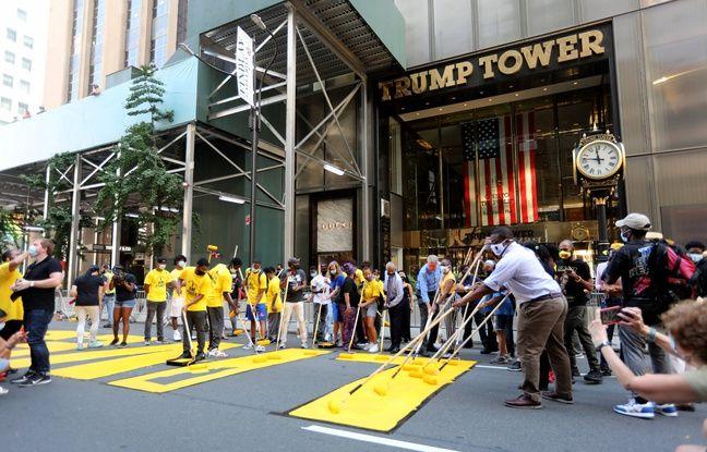 New York: Le slogan «Black Lives Matter» peint en géant devant la Trump Tower