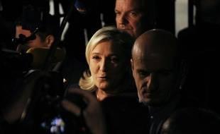 La présidente du Front national, Marine Le Pen à Henin-Beaumont le soir du deuxième tour de Régionales, le 13 décembre 2015