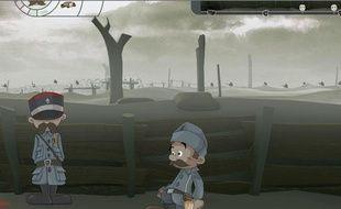 Extrait du jeu vidéo History game, basé sur le programme histoire des classes de 3e.