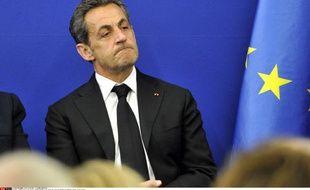 Nicolas Sarkozy à l'inauguration de l'Institut Claude Pompidou, centre de soin et de recherche sur la maladie d'Alzheimer.
