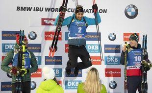 Martin Fourcade remporte la poursuite d'Hochfilzen.