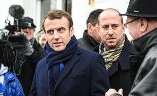Emmanuel Macron, en visite à Noeux-les-Mines, le 13 janvier 2017.