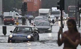 Londres sous l'eau.