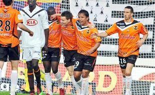 Kevin Gameiro (au centre) a marqué le but qui prive Bordeaux de trois précieux points.