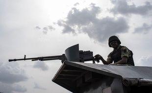 Un soldat des forces armées nigérianes, le 17 avril 2018.