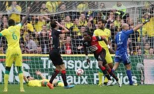 Habib Habibou pensait redonner l'avantage au Stade Rennais face à Nantes, le 2 novembre 2014.